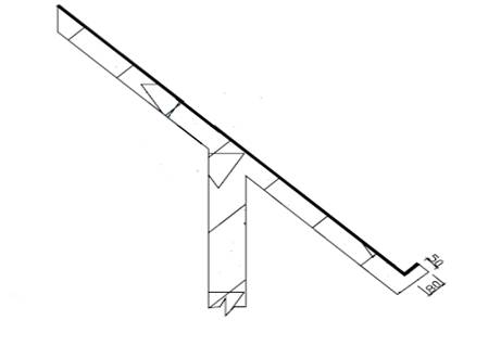 找平层与突出屋面构造交接处或转角处,应做成圆弧形或钝角,且