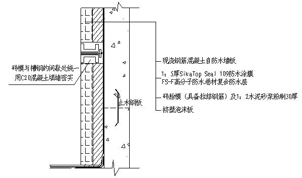 ××工程地下室底板,侧墙防水施工方案