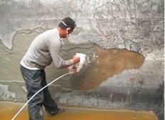 用YYB特种防腐抗渗浆料对化工厂水池做防腐处理