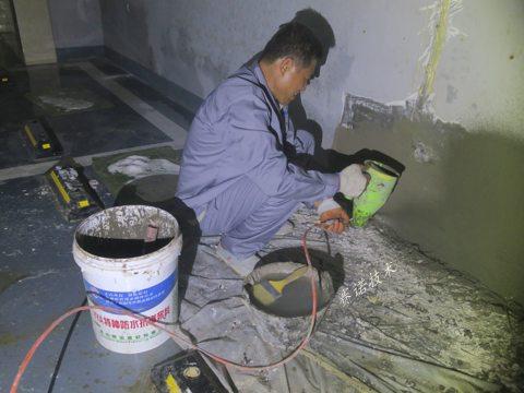 郑州地下车库注浆后漏水