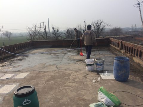 郑州屋面漏水采用赛诺技术处理案例