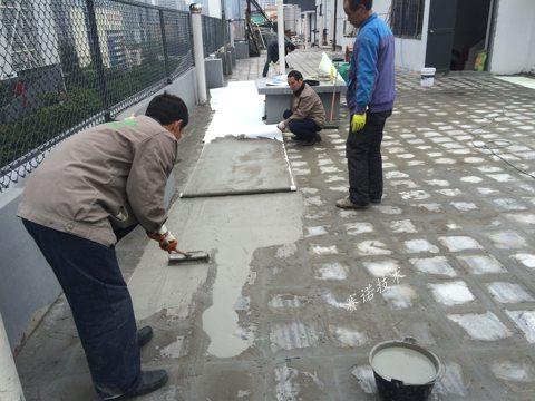 广州广场砖屋面漏水治理案例